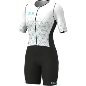 Alé Cycling Maui SS Triathlon Skinsuit Long Women, white